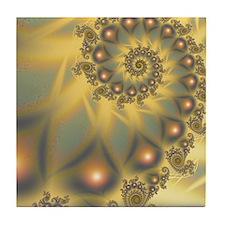 Golden Fiddle Tile Coaster