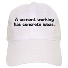A cement worker has Cap