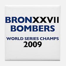 BronxxvII Bombers Dark Tile Coaster