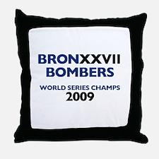 BronxxvII Bombers Dark Throw Pillow