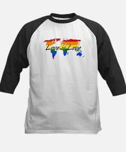 Gay Pride Love Is Love Worldwide Baseball Jersey