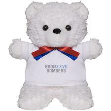 BRONX BOMBERS GREY BLUE TYPE Teddy Bear