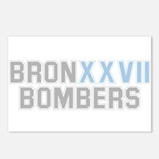 BRONX BOMBERS GREY BLUE TYPE Postcards (Package of