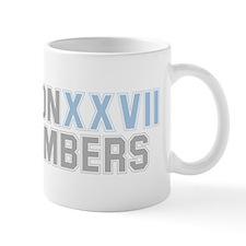 BRONX BOMBERS GREY BLUE TYPE Mug