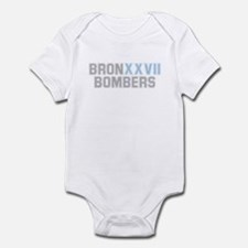 BRONX BOMBERS GREY BLUE TYPE Infant Bodysuit