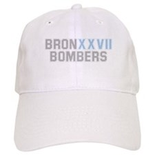 BRONX BOMBERS GREY BLUE TYPE Baseball Cap