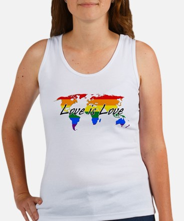 Gay Pride Love Is Love Worldwide Tank Top