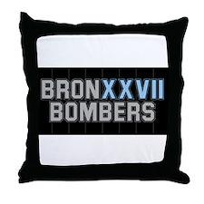 BRONXXVII BOMBERS ON BLACK2 Throw Pillow