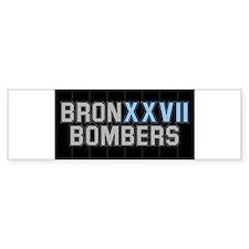 BRONXXVII BOMBERS ON BLACK2 Bumper Bumper Sticker