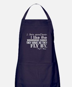 Douglas Adams Deadlines Quote Apron (dark)