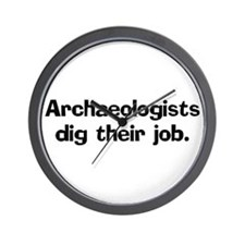 Archeologists dig their job Wall Clock