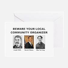 Beware community organizer Greeting Card
