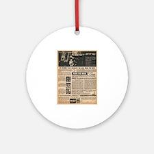 Vintage Self-Defense Ad Ornament (Round)