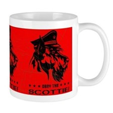 Obey the Scottie! Scottish Terrier Small Mugs