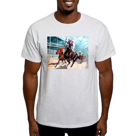 DOWN THE FIRST TURN Ash Grey T-Shirt
