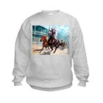 DOWN THE FIRST TURN Kids Sweatshirt