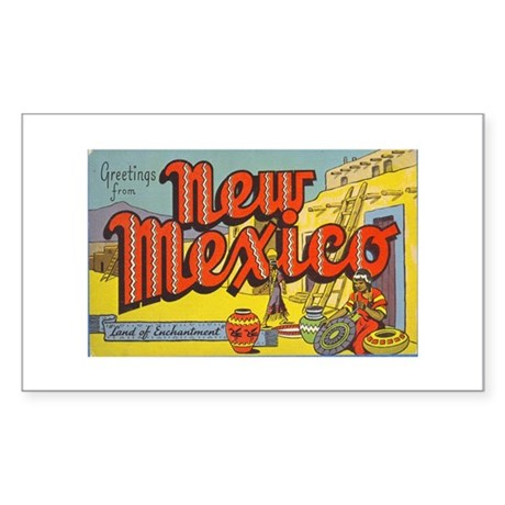Vintage New Mexico Rectangle Sticker