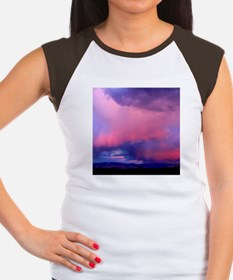 Montana Sunset Storm Women's Cap Sleeve T-Shirt