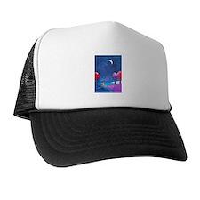Moon gazing hare Trucker Hat