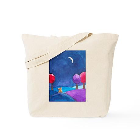 Moon gazing hare Tote Bag