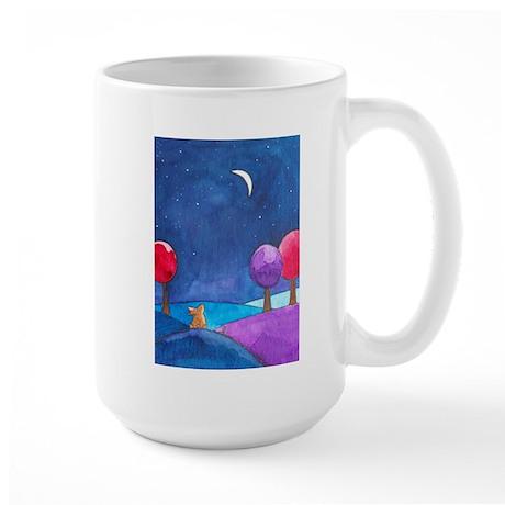 Moon gazing hare Large Mug