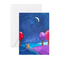 Moon gazing hare Greeting Cards (Pk of 10)