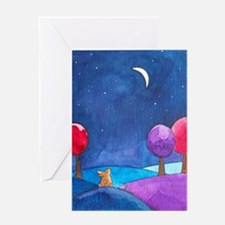 Moon gazing hare Greeting Card