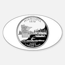 Minnesota Quarter Sticker (Oval)