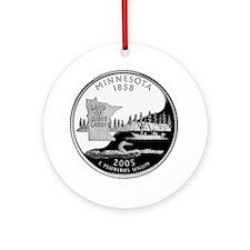 Minnesota Quarter Ornament (Round)