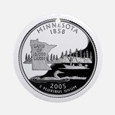 Minnesota Quarter Ornament (Round)
