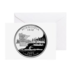 Minnesota Quarter Greeting Cards (Pk of 10)