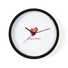 Unique Mahogany Wall Clock