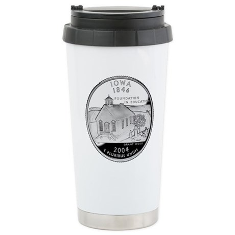 Iowa Quarter Stainless Steel Travel Mug