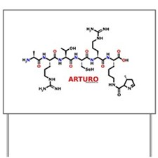 Arturo name molecule Yard Sign