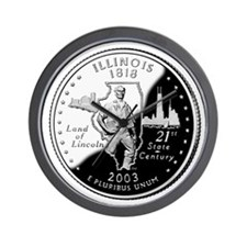 Illinois Quarter Wall Clock