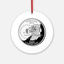 Indiana Quarter Ornament (Round)