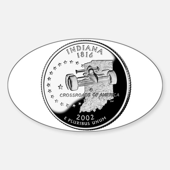Indiana Quarter Oval Decal