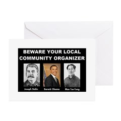 Beware of community organizer Greeting Cards (Pk o