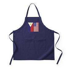 Philippine Flag & US Flag Apron (dark)