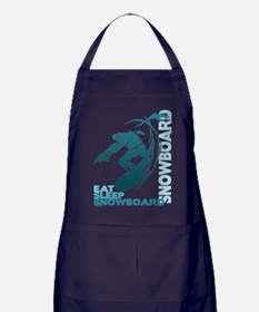 Eat Sleep Snowboard Apron (dark)