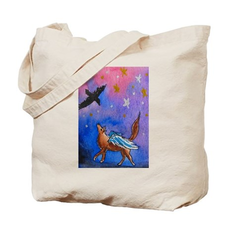 Wolf and Raven Tote Bag
