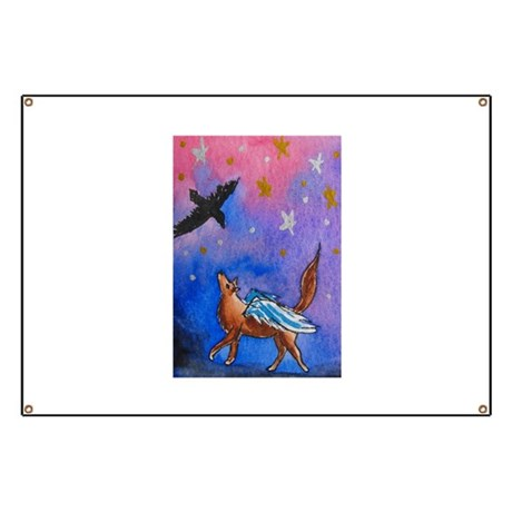 Wolf and Raven Banner