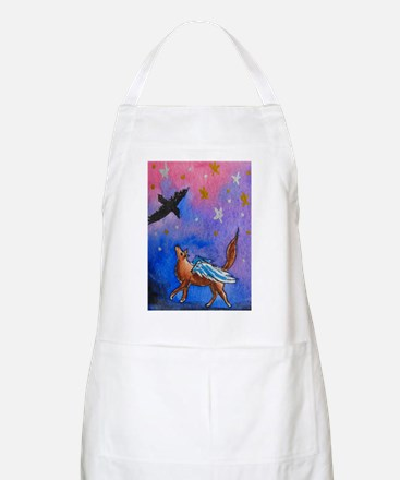Wolf and Raven Apron