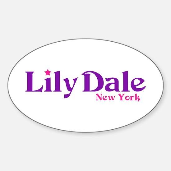 Lily Dale New York Sticker (Oval)