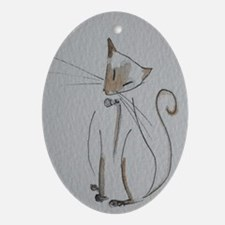 Simply Siamese Oval Ornament