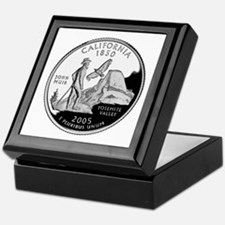 California Quarter Keepsake Box