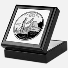 California Quarter Keepsake Box