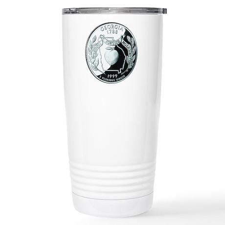 Georgia Quarter Stainless Steel Travel Mug
