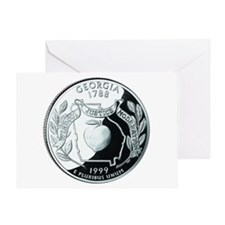 Georgia Quarter Greeting Card