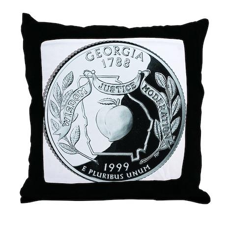 Georgia Quarter Throw Pillow